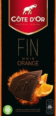 "Cote d'or Belgian Chocolate - ""Noir de Noir"" Dark Orange 56% Bar, 100g/3.5oz. (5 Pack)"