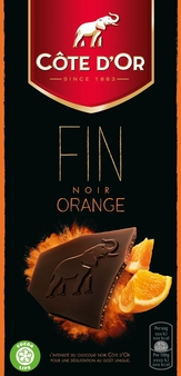 "Cote d'or Belgian Chocolate - ""Noir de Noir"" Dark Orange 56% Bar, 100g/3.5oz. (10 Pack)"