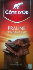 Cote d'or Belgian Chocolate - Praline Fondant Lait Belgian Milk Chocolate Confection with Praline Filling, 7.05/200g (5 Pack)