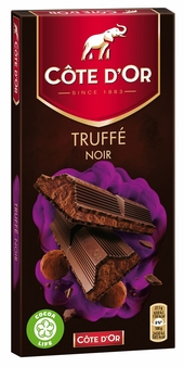 Cote d'or Belgian Chocolate - Truffee Noir Belgian Dark Chocolate Confection 190g/6.7oz (14 Pack)