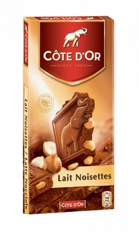 """Cote d Or Belgian - """"Milk Chocolate with Whole Hazelnuts"""", 32% Cocoa 7.05oz./200g (5 Pack)"""