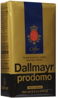 Dallmayr- Prodomo Ground Coffee Vacuum Pack, 8.8oz/250g (Single)
