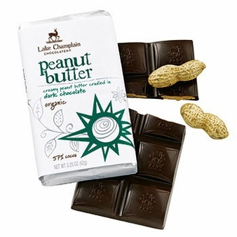 Lake Champlain Dark Chocolate Peanut Butter Organic Bar 3.25oz  (Pack of 5)