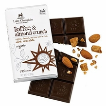 Dark Chocolate Toffee & Almonds Organic Bar (single)
