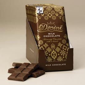 "Divine ""Fair Trade"" 28% Milk Chocolate, 100g/3.5oz.  (Single)"