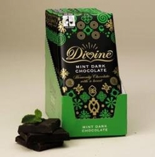 "Divine ""Fair Trade"" 70% "" Mint Dark Chocolate"", 100g/3.5oz. (10 Pack)"