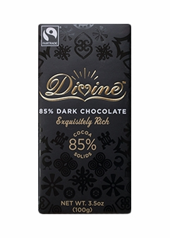 "Divine ""Fair Trade"" Divine Dark Chocolate 85% Dark Chocolate 100g/3.5oz. (Single)"