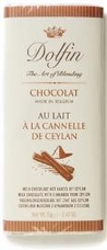 Dolfin Belgian Chocolate - 32% Cocoa Milk Chocolate Bar with Cinnamon , 70g/2.47oz (15 Pack).