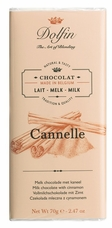 "Dolfin Belgian Chocolate - ""Cannelle"" Milk Chocolate Bar with Cinnamon , 70g/2.47oz. (Single)"