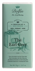 "Dolfin Belgian Chocolate - ""Th� Earl Grey"" Dark Chocolate Bar with Earl Grey Tea, 70g/2.47oz. (Single)"