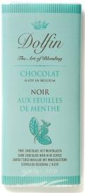 Dolfin Belgian Chocolate - 52% Cocoa Dark Chocolate Bar with Mint Leaves, 70g/2.47oz. (15 Pack)