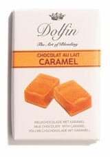 "Dolfin Belgian Chocolate - NEW SIZE! ""Milk Chocolate with Caramel,.35oz./ea. 12 Piece (Single)"