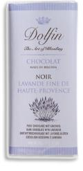 "Dolfin Belgian Chocolate - 52% Cocoa Dark Chocolate with ""Lavender"" Bar, 70g/2.47oz. (Single)"