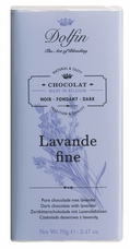 "Dolfin Belgian Chocolate - ""Lavande fine"" Dark Chocolate with Lavender Bar, 70g/2.47oz. (Pack of 15)"