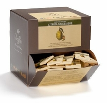 Dolfin Belgian Chocolate - NEW SIZE! Lemon & Ginger, 30ct. .35oz./ea. 12 Piece Bag (Single)