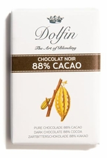 "Dolfin NEW SIZE!! - 88% Cocoa ""Noir 88"" Dark Chocolate, 30ct. .35oz./ea.(Single)"