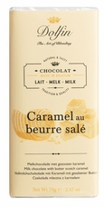 "Dolfin Belgian Chocolate - ""Caramel au beurre sal�"" Milk Chocolate with Butterscotch Caramel 70g/2.47oz (Single)"