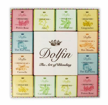 "Dolfin Belgian Chocolate - ""Dark & Milk Spice Assortment"" 48 Squares 216g/7.6oz(Single)"