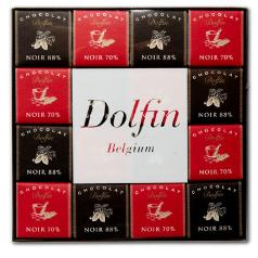 "Dolfin Belgian Chocolate - ""Ebene Assortment"" (Extra bitter- 70% and 88% cocoa) 48 piece box, 216g/7.6oz (Single)"