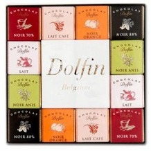 "Dolfin Belgian Chocolate - ""Panache Assortment"" 48 piece box, 216g/7.6oz.,  (5 Pack)"