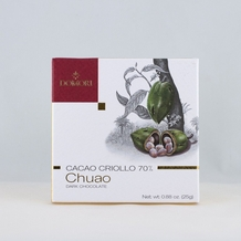 "Domori ""Chuao"", Cacao Criollo series,  Italian Dark Chocolate Bar, 70% Cocoa, 25g/.88oz (6 Pack)"