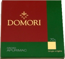 "Domori Italian Chocolate - Single Origin ""Apurimac"", 70% Cocoa, 50g/1.76oz. (Single)"