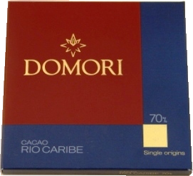 "Domori Italian Chocolate - Single Origin ""Rio Caribe"", 70% Cocoa, 25g/0.88oz.(12 Pack)"