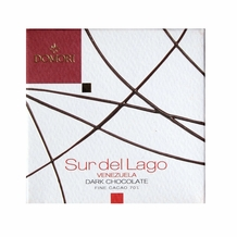 "Domori ""Sur Del Lago"", Italian Dark Chocolate Bar - Single Origin, 70% Cocoa, 25g/.88oz. (12 Pack)"