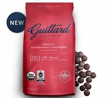 Guittard Chocolate - Organic Bittersweet Chocolate Baking Wafers, 74% Cocoa, 12oz. Bag (Single)