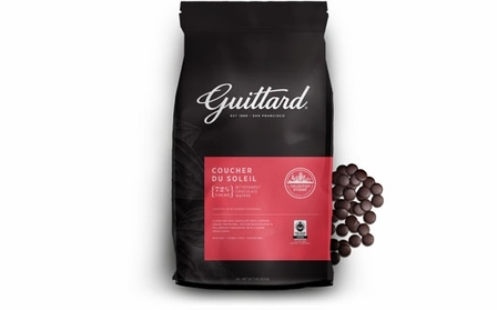 "E. Guittard Chocolate - ""Coucher du Soleil"" (Sunset) Bittersweet Dark Chocolate Wafers for Baking and Eating, 72% Cocoa, 3kg/6.6lb. (Single)"