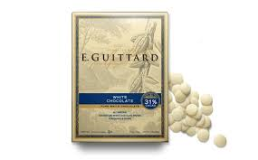 """E. Guittard Chocolate - """"Creme Francaise"""" (French Cream) White Chocolate Wafers for Baking and Eating, 31% Cocoa, 454g/1lb. (4 Pack)"""