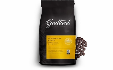 "E. Guittard Chocolate - ""La Premiere Etoile"" Semisweet Dark Chocolate Wafers for Baking and Eating, 58% Cocoa, 3kg/6.6lb. Bag (Single)"