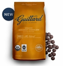 Guittard Chocolate - Organic Semisweet Chocolate Baking Wafers, 66% Cocoa, 12oz. Bag (4 Pack)