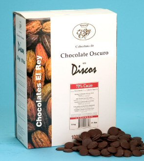 "El Rey Venezuelan Chocolate - Single Origin ""Caoba"" Milk DISCOS, 41% Cocoa, 2lbs (Single)"