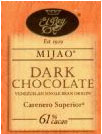 "El Rey Venezuelan Chocolate - Single Origin ""Mijao"" Dark Bar, 61% Cocoa, 80g/2.8oz (Single)."