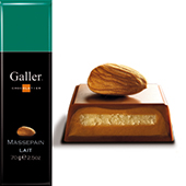 Galler Belgian Chocolate - Milk Chocolate Almond, 70g//2.5oz (Single)