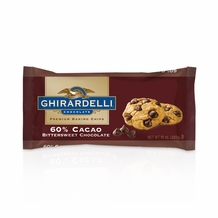 "Ghirardelli Chocolate - ""Bittersweet Chocolate"" Premium Baking Chips, 60% Cocoa, 326g/11.5oz.  (6 Pack)"