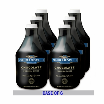 "Ghirardelli Black Label ""Chocolate"" Syrup 87.3OZ/Bottle (6 Pack)"