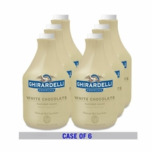 "GHIRARDELLI CHOCOLATE - BULK SIZE ""WHITE CHOCOLATE SAUCE"", 89.4 FL.OZ./BOTTLE (6 PACK)"