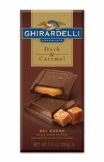 "Ghirardelli Chocolate - ""Dark Chocolate with Caramel"", 60% Cocoa, 100g/3.5oz. (12 Pack)"