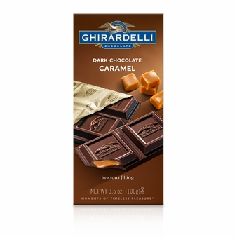"Ghirardelli Chocolate - ""Dark Chocolate with Caramel"", 60% Cocoa, 100g/3.5oz. (Single)"