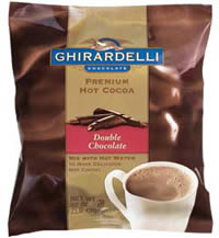 """Ghirardelli Chocolate - """"Double Chocolate"""" Hot Chocolate Bulk Bag, 32oz., 2 Pounds (4 Pack)"""