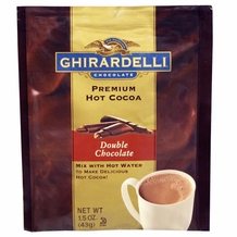 """Ghirardelli Chocolate - """"Double Chocolate"""" Hot Chocolate Packets, 15 count Box."""