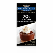 "Ghirardelli Chocolate - ""Extra Bittersweet Chocolate"" Premium Baking Bar, 70% Cocoa, 113g/4oz.  (6 Pack)"