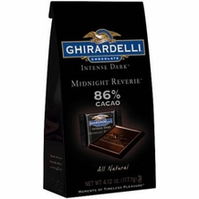 Ghirardelli Chocolate Intense Dark 86% Cacao Midnight Reverie Gift Bag, 4.12oz