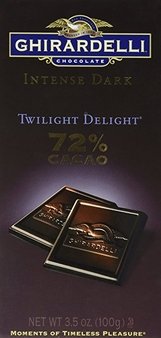 "Ghirardelli Chocolate - Intense Dark Chocolate ""Twilight Delight"", 72% Cocoa, 100g/3.5oz (Single)."