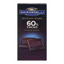 "Ghirardelli Chocolate - Intense Dark Chocolate ""Evening Dream"", 60% Cocoa, 100g/3.5oz. (Single)"