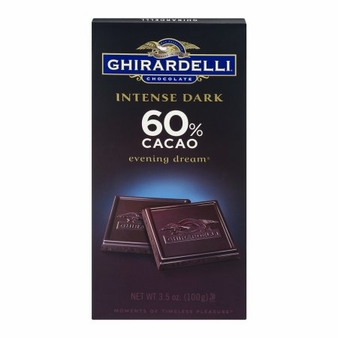 "Ghirardelli Chocolate - ""Evening Dream"", 60% Cocoa, 100g/3.5oz. (12 Pack)"