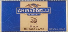 "Ghirardelli Chocolate - ""Milk Chocolate"" Premium Baking Bar, 113g/4oz.  (6 Pack)"