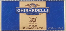 "Ghirardelli Chocolate - ""Milk Chocolate"" Premium Baking Bar, 113g/4oz. (12 Pack)"